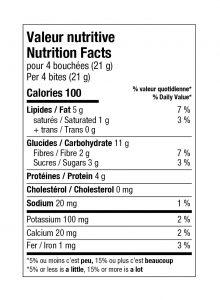 charte valeur nutritive betteraves pommes